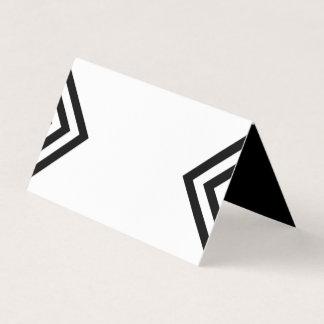 Cartão De Mesa Branco geométrico minimalista e preto modernos