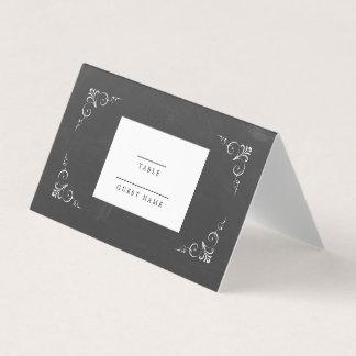 Cartão De Mesa Casamento do quadro da tipografia do vintage