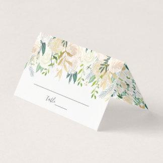 Cartão De Mesa Casamento floral da aguarela pálida