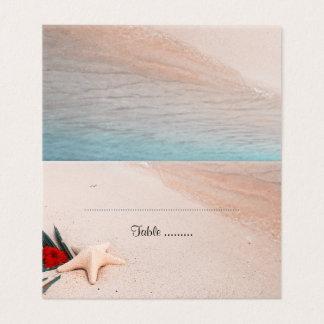 Cartão De Mesa Casamento tropical do destino da praia
