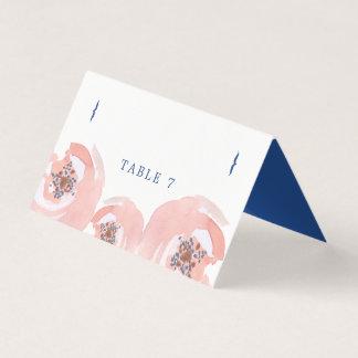 Cartão De Mesa Coram as flores