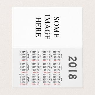 Cartão De Mesa Criar seu próprio calendário 2018