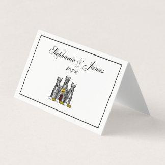 Cartão De Mesa Crista heráldica C de CoatofArms do emblema do