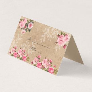 Cartão De Mesa Elegante, país rústico, casamento do jardim de