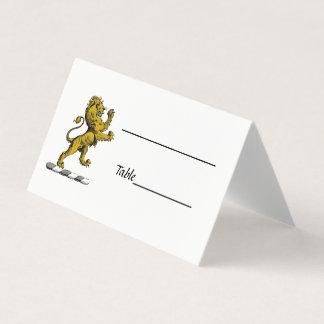Cartão De Mesa Emblema ereto C da crista do leão heráldico
