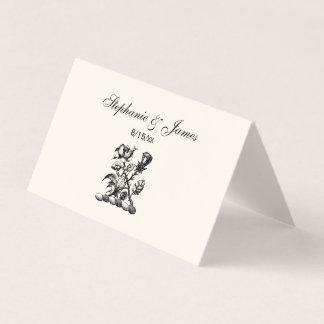 Cartão De Mesa Emblema heráldico cor-de-rosa & do cardo da brasão