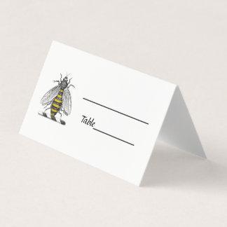 Cartão De Mesa Emblema heráldico formal C da brasão da abelha do
