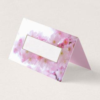 Cartão De Mesa Flores de cerejeira cor-de-rosa que Wedding o
