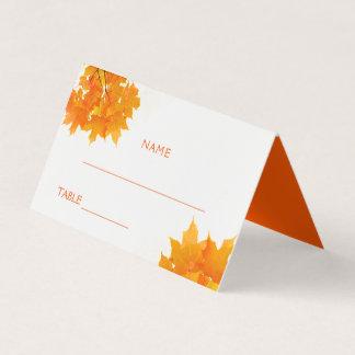 Cartão De Mesa Folhas de bordo do outono que Wedding