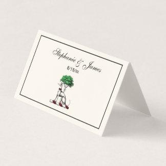 Cartão De Mesa Galgo Whippet com o emblema heráldico da crista da