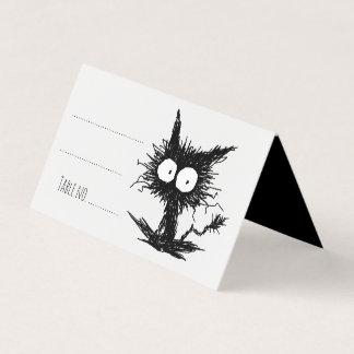 Cartão De Mesa Gatinho Unkempt preto GabiGabi
