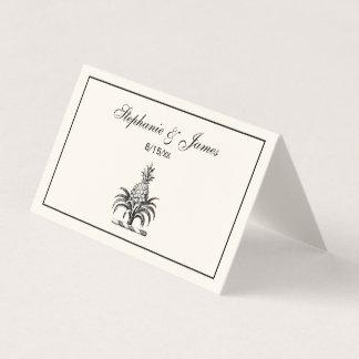 Cartão De Mesa Marfim heráldico formal da crista da brasão do
