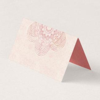 Cartão De Mesa Mesa elegante do casamento do pêssego da mandala