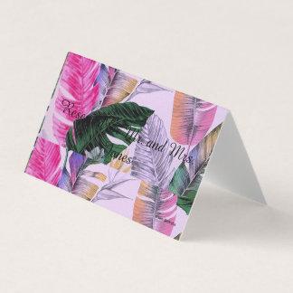 Cartão De Mesa Mesa/suporte customizáveis tropicais lugar do
