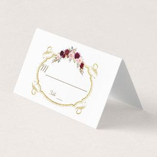 Cartão De Mesa Número floral elegante da mesa da queda de