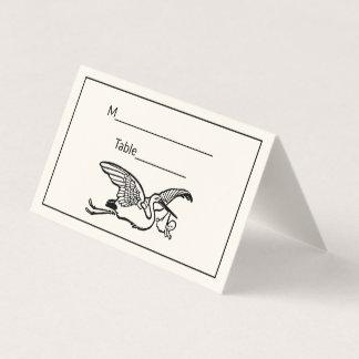 Cartão De Mesa O género do chá de fraldas da cegonha #2 revela o