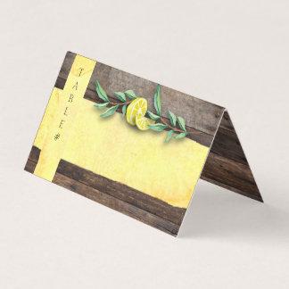 Cartão De Mesa O LUGAR DOBRADO CARDA o casamento de madeira