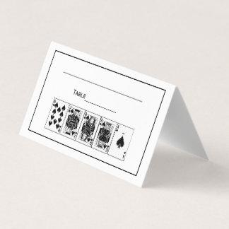 Cartão De Mesa Pás reais do resplendor reto do póquer da noite do