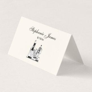 Cartão De Mesa Senhoras elegantes do art deco do vintage na praia