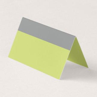 Cartão De Mesa Verde moderno e cinza