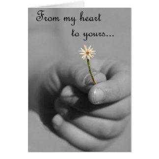 Cartão De meu coração a seu