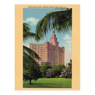 Cartão de Miami Florida do hotel dos marismas do