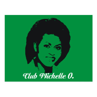 Cartão de Michelle O do clube, verde de Kelly Cartão Postal