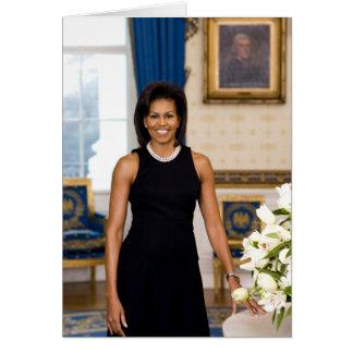 Cartão de Michelle Obama