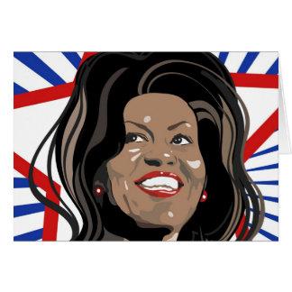 Cartão de Michelle Obama da estrela
