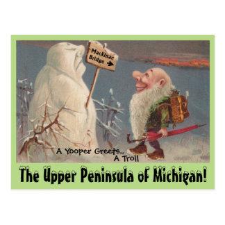CARTÃO de Michigan da península de U.P. Yooper