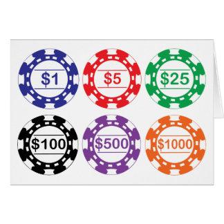 Cartão de microplaquetas do casino