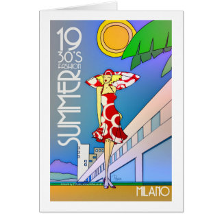 Cartão de Milão do verão