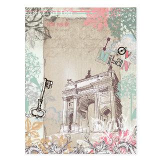 Cartão de Milão do vintage