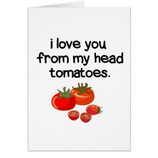 Cartão De minha cabeça a meus dedos do pé