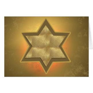 Cartão de Mitzvah do bar da estrela de David do