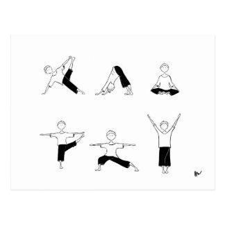 Cartão de Moga da ioga