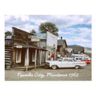 Cartão de Montana da cidade de Nevada