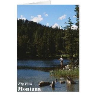 Cartão de Montana dos peixes da mosca
