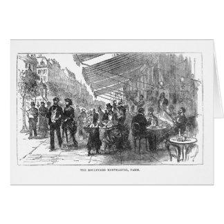 Cartão de Montmartre Paris do bulevar do café do