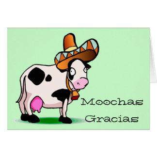 Cartão de Moochas Gracias