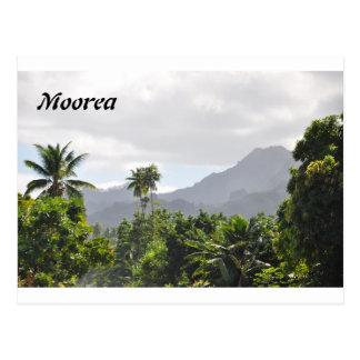 Cartão de Moorea, Polinésia francesa