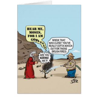 Cartão de Moses e de urso de Smokey
