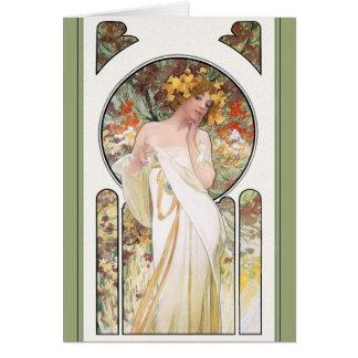 CARTÃO de Mucha:  Anúncio do perfume de Sylvais