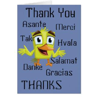 Cartão de muitos obrigados
