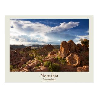 Cartão de Namíbia - de Damaraland com texto