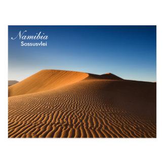 Cartão de Namíbia - de deserto de Sossusvlei