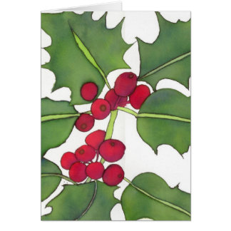 Cartão de Natal 2 do azevinho