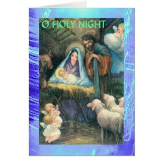 Cartão de Natal - 8 de 9 - natividade do Victorian
