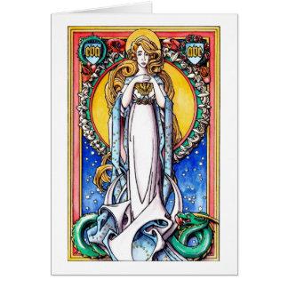 Cartão de Natal: A concepção imaculada