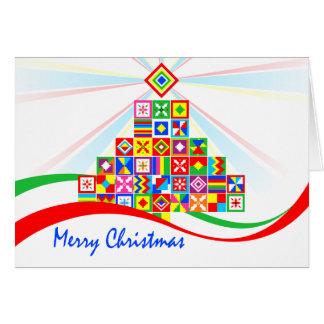 Cartão Cartão de Natal africano do impressão do teste